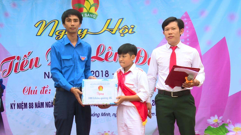 """Trường THCS Quảng Minh tổ chức ngày hội """"Tiến bước lên Đoàn"""" năm 2019."""