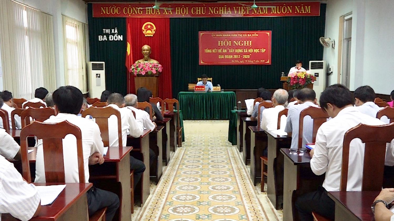 Thị xã Ba Đồn: Tổng kết Đề án Xây dựng xã hội học tập giai đoạn 2012 – 2020.