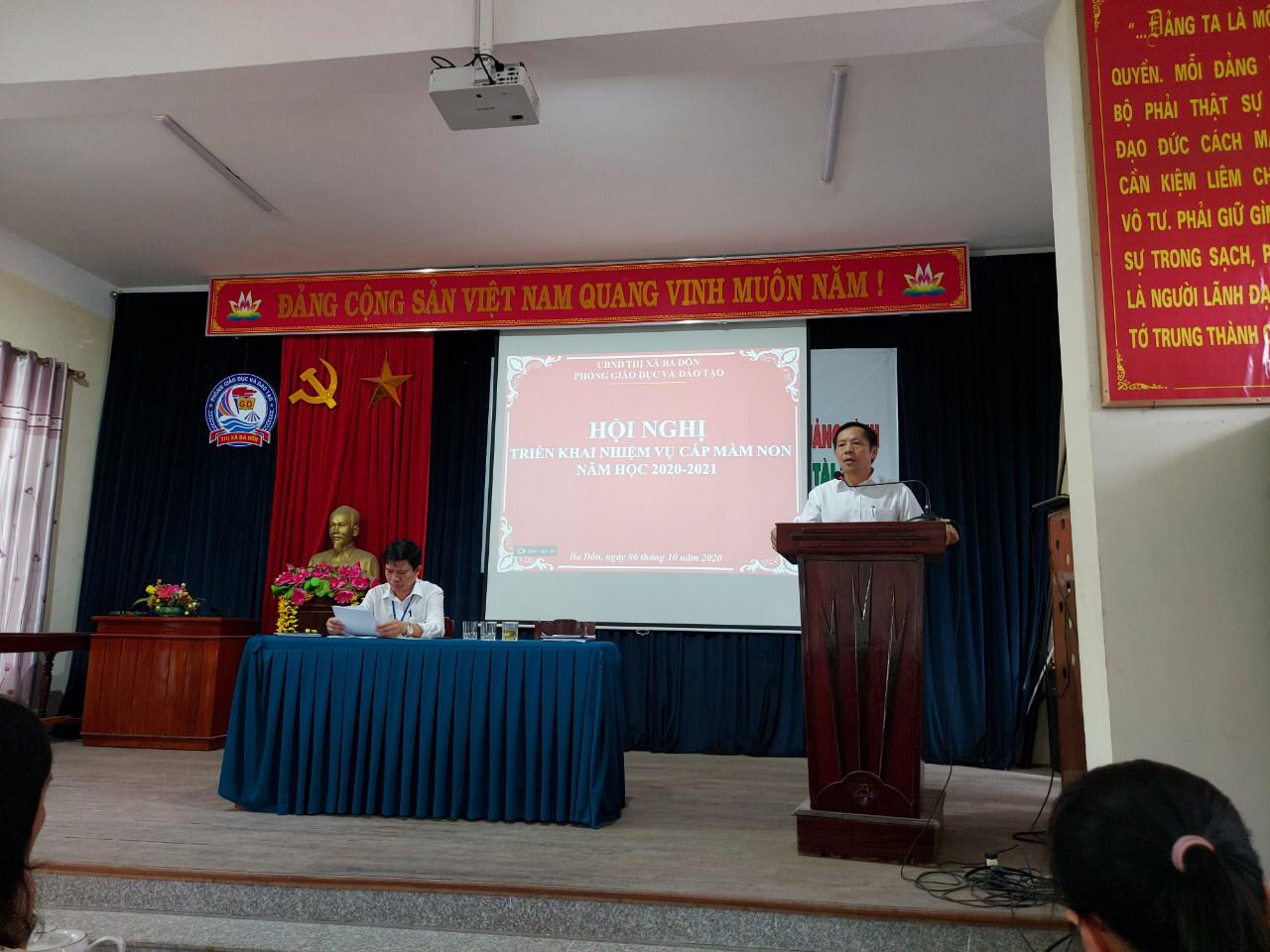 Hội nghị triển khai nhiệm vụ cấp Mầm non năm học 2020-2021