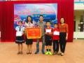Học sinh nhận giải Hội khỏe Phù đổng cấp thị xã năm học 2018-2019.